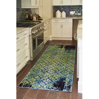 Yareli Blue/Violet Area Rug Rug Size: Rectangle 5 x 8