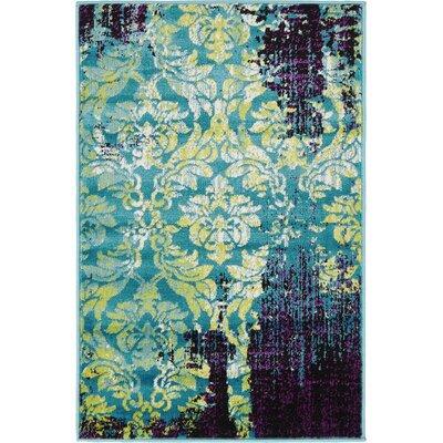 Yareli Blue/Violet Area Rug Rug Size: 2 x 6