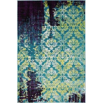 Yareli Blue/Violet Area Rug Rug Size: 4' x 6'