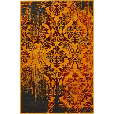 Yareli Orange/Burgundy Area Rug Rug Size: 2' x 6'