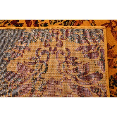 Yareli Orange/Burgundy Area Rug Rug Size: Rectangle 2 x 3