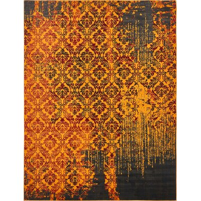 Yareli Orange/Burgundy Area Rug Rug Size: 10' x 13'