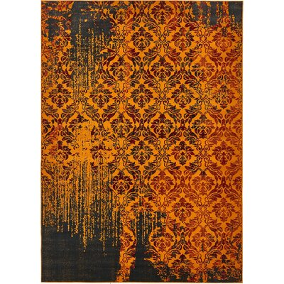 Yareli Orange/Burgundy Area Rug Rug Size: 8' x 11'6