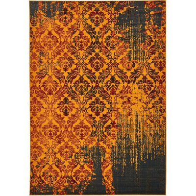 Yareli Orange/Burgundy Area Rug Rug Size: 7 x 10