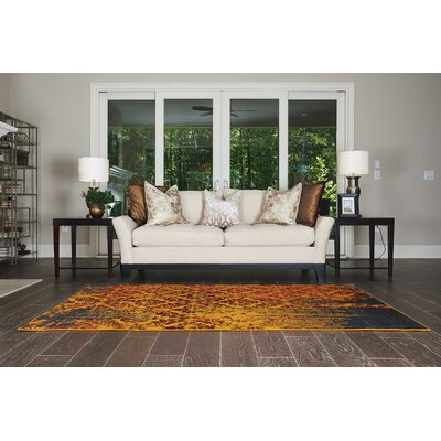 Yareli Orange/Burgundy Area Rug Rug Size: 5 x 8