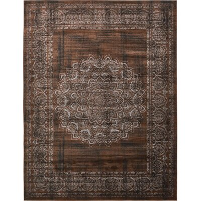Hezekiah Chocolate Brown/Black Area Rug Rug Size: 10 x 13