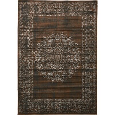 Yareli Chocolate Brown/Black Area Rug Rug Size: 8 x 116