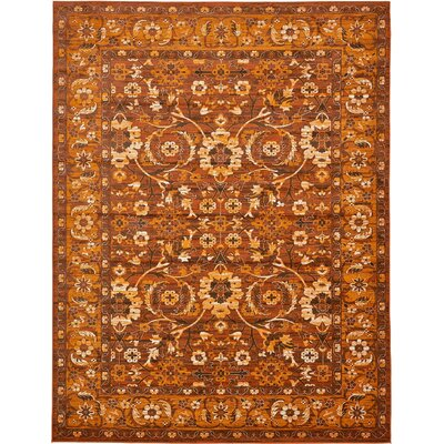 Yareli Orange/Brown Area Rug Rug Size: 13' x 19'8