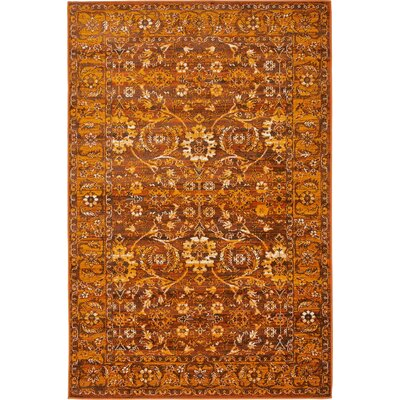 Yareli Orange/Brown Area Rug Rug Size: 4' x 6'