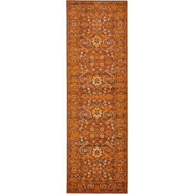 Yareli Orange/Brown Area Rug Rug Size: Runner 3' x 9'10