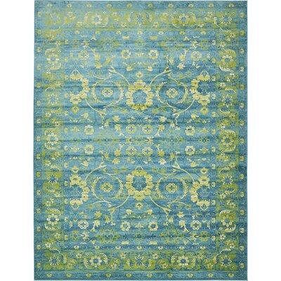 Yareli Blue/Green Area Rug Rug Size: 10 x 13