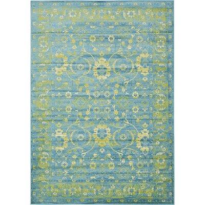 Yareli Blue/Green Area Rug Rug Size: 7 x 10