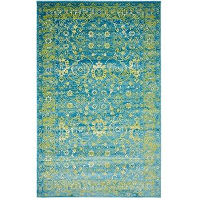 Yareli Blue/Green Area Rug Rug Size: 5 x 8