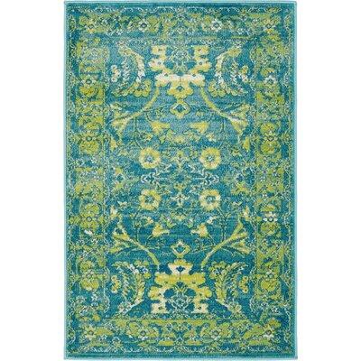 Yareli Blue/Green Area Rug Rug Size: 2 x 6