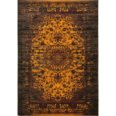 Yareli Yellow/Brown Area Rug Rug Size: Rectangle 8 x 116