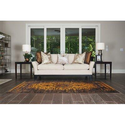Yareli Yellow/Brown Area Rug Rug Size: 5 x 8