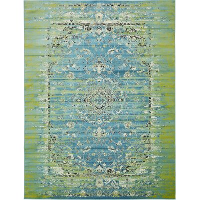 Yareli Blue/Green Area Rug Rug Size: 13' x 19'8