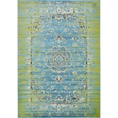 Yareli Blue/Green Area Rug Rug Size: 8 x 116
