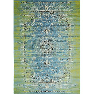 Neuilly Blue/Green Area Rug Rug Size: 7 x 10