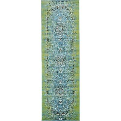 Yareli Blue/Green Area Rug Rug Size: Runner 3 x 910