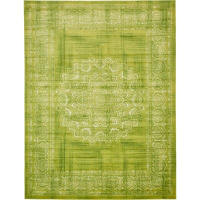 Neuilly Beige/Green Area Rug Rug Size: Rectangle 8 x 116