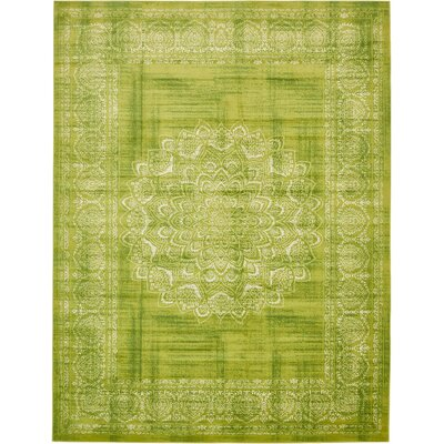Neuilly Beige/Green Area Rug Rug Size: 10 x 13