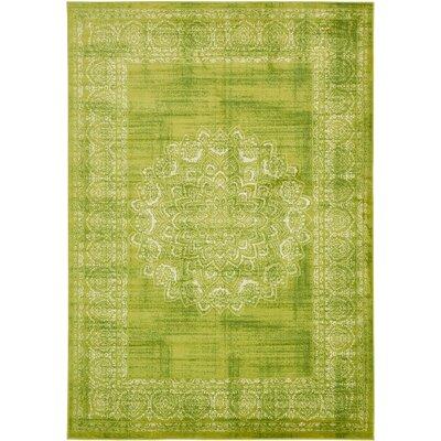 Yareli Beige/Green Area Rug Rug Size: 7 x 10