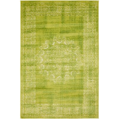 Neuilly Beige/Green Area Rug Rug Size: 4 x 6