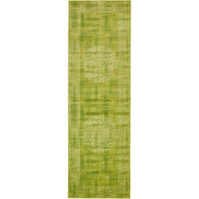 Yareli Beige/Green Area Rug Rug Size: Runner 3 x 910