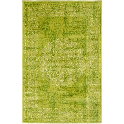 Neuilly Beige/Green Area Rug Rug Size: 2 x 3