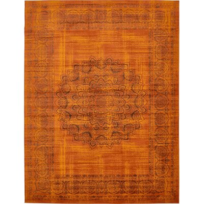 Neuilly Terracotta/Brown Area Rug Rug Size: Rectangle 8 x 116
