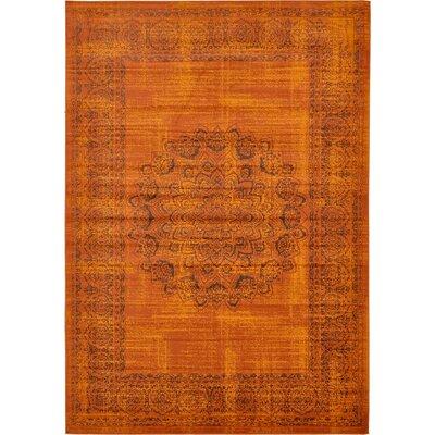 Yareli Terracotta/Brown Area Rug Rug Size: 8 x 116