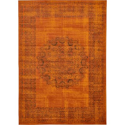 Neuilly Terracotta/Brown Area Rug Rug Size: 7 x 10