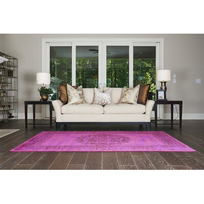 Neuilly Fuchsia/Purple Area Rug Rug Size: Rectangle 5 x 8