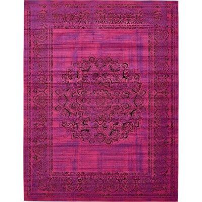 Neuilly Fuchsia/Purple Area Rug Rug Size: 10 x 13