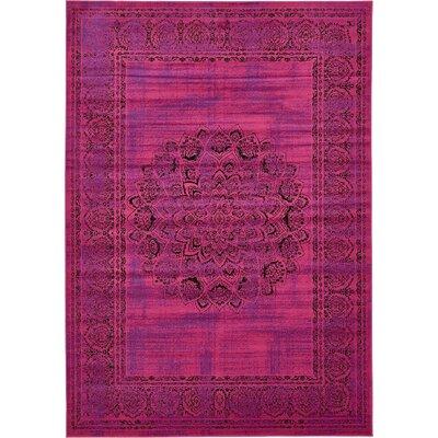 Neuilly Fuchsia/Purple Area Rug Rug Size: 7 x 10