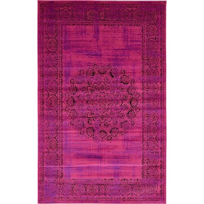 Neuilly Fuchsia/Purple Area Rug Rug Size: Rectangle 4 x 6