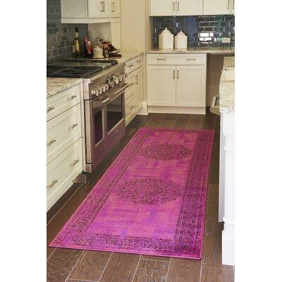 Yareli Fuchsia/Purple Area Rug Rug Size: Runner 3 x 910