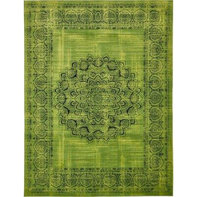 Yareli Sage Green/Black Area Rug Rug Size: 13' x 19'8