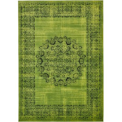 Yareli Sage Green/Black Area Rug Rug Size: 8' x 11'6
