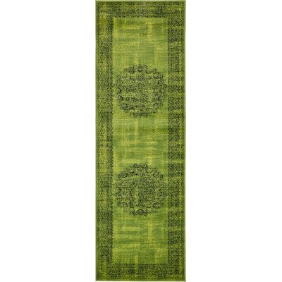 Yareli Sage Green/Black Area Rug Rug Size: Runner 3' x 9'10