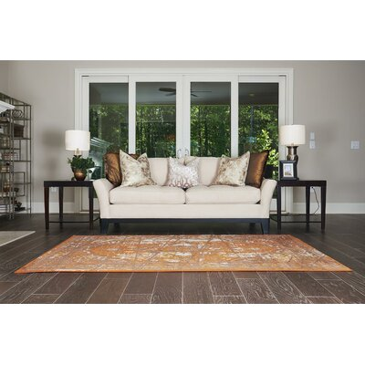 Yareli Brown/Terracotta Area Rug Rug Size: 7 x 10