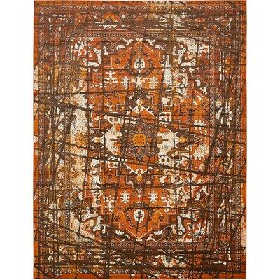 Yareli Brown/Terracotta Area Rug Rug Size: 13 x 198