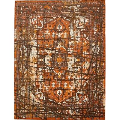 Yareli Brown/Terracotta Area Rug Rug Size: 10' x 13'