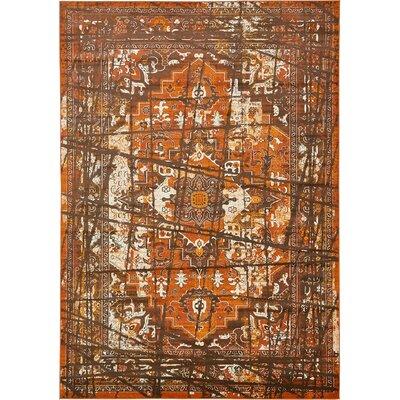 Yareli Brown/Terracotta Area Rug Rug Size: 8' x 11'6