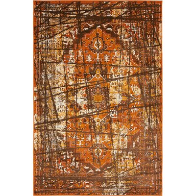 Yareli Brown/Terracotta Area Rug Rug Size: 4' x 6'