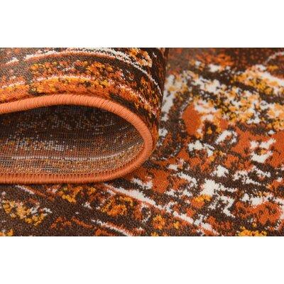 Yareli Brown/Terracotta Area Rug Rug Size: 4 x 6