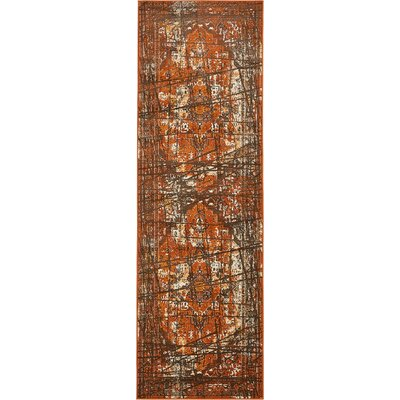 Yareli Brown/Terracotta Area Rug Rug Size: Runner 3 x 910