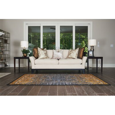 Yareli Black/Ivory Area Rug Rug Size: Rectangle 7 x 10