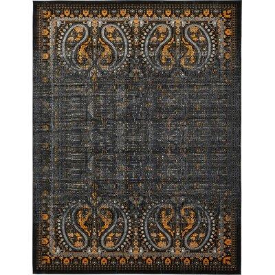 Yareli Black/Ivory Area Rug Rug Size: 13' x 19'8